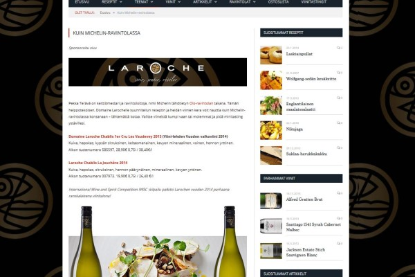 Online marketing for Domaine Laroche